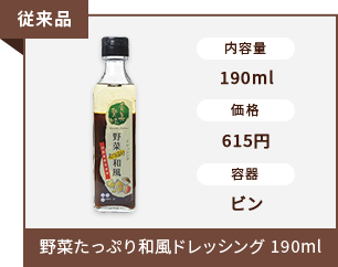 野菜たっぷり和風ドレッシング 190ml