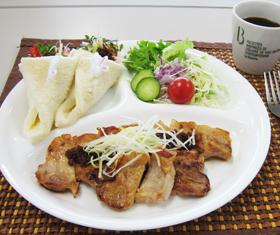 豚ロース肉のラー油のせ(1人分)