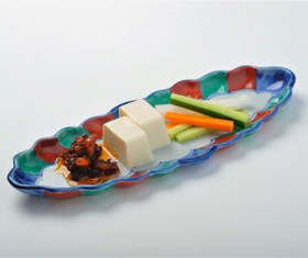 豆腐のラー油のせ